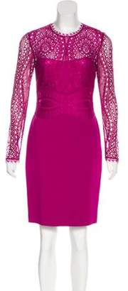 Emilio Pucci Lace-Accented Knee-Length Dress