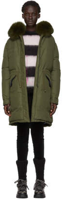 Mr & Mrs Italy Green Down Soft Touch Jacket