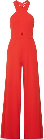 Alice + Olivia Alice Olivia - Trinity Cutout Stretch-crepe Jumpsuit - Red
