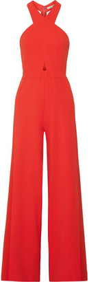 Alice + Olivia Alice Olivia - Trinity Cutout Stretch-crepe Jumpsuit - Red $440 thestylecure.com