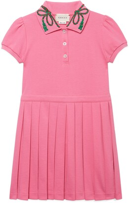 Gucci Short Sleeve Pleated Dress