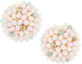 Emily and Ashley Greenbeads By Lavender Beaded Stud Earrings