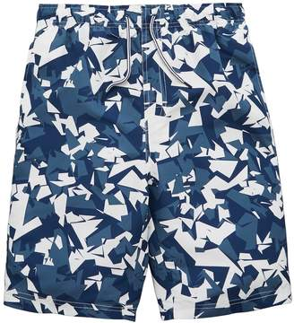 Very Boys Printed Blue Abstract Camo Board Shorts
