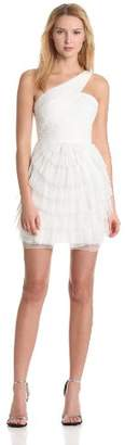 BCBGMAXAZRIA Women's Ella Pleated One Shoulder Cocktail Dress