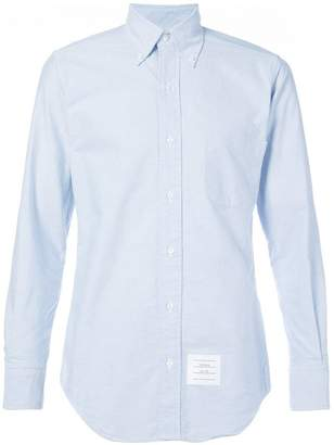 Thom Browne Classic Long Sleeve Shirt In Blue Oxford