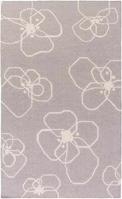 Surya TXT3014-23 Hand Woven 100-Percent Wool Floral and Paisley Accent Rug, 2-Feet by 3-Feet