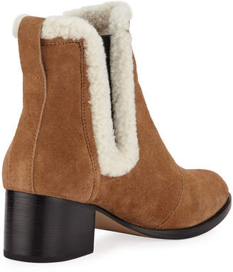 Rag & Bone Walker Fur-Trim Suede Boots