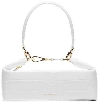 Rejina Pyo white Olivia crocodile effect leather box bag