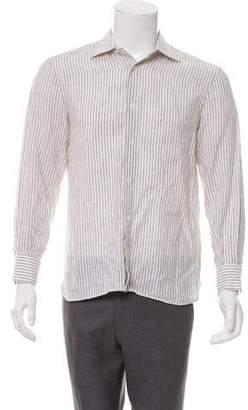 Borrelli Linen Striped Shirt