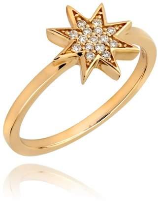 Lark & Berry Star Diamond Pave Ring Yellow Gold