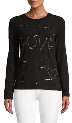 Love Moschino Embellished Graphic Tee