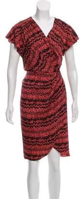 Veronica Beard Printed Midi Dress