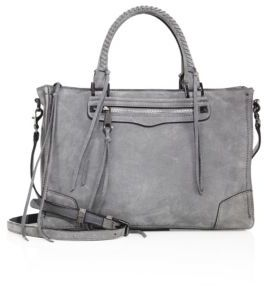 Rebecca Minkoff Regan Nubuck Leather Satchel $345 thestylecure.com