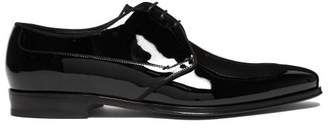 Dolce & Gabbana Patent Leather Derby Shoes - Mens - Black