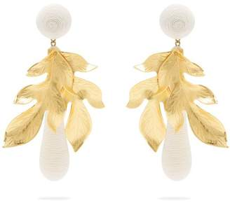 Rebecca De Ravenel - Violette Gold Plated And Silk Cord Earrings - Womens - White