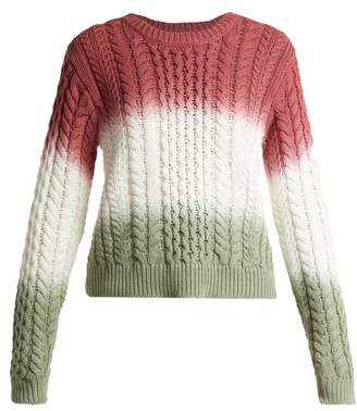Sies Marjan - Britta Cable Knit Cotton Sweater - Womens - Pink Multi