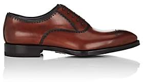 di Bianco Men's Perforated Burnished Leather Balmorals-Brown