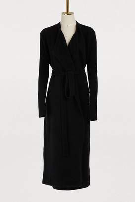 Rick Owens Wool and yak belted coat