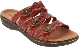 664f2add64e Clarks Leather Lightweight Triple Adjust Sandals - Leisa Grace