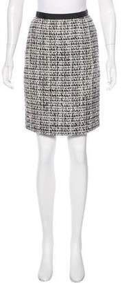 Peter Som Tweed Knee-Length Skirt