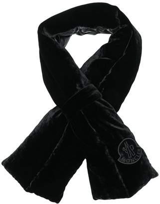 Moncler velvet padded scarf