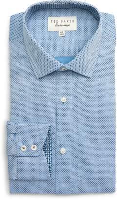Ted Baker Endurance Clamme Extra Slim Fit Dot Dress Shirt