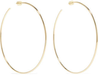 Jennifer Fisher Skinny Gold-plated Hoop Earrings