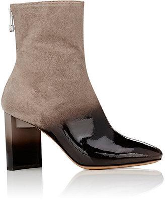Maison Margiela Women's Asymmetric-Heel Ombré Suede Ankle Boots $1,060 thestylecure.com