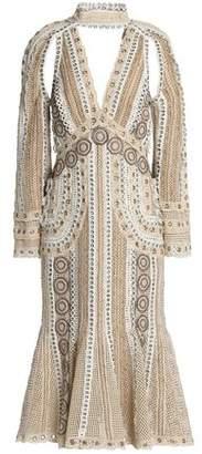 Jonathan Simkhai Cutout Eyelet-Embellished Crocheted Midi Dress