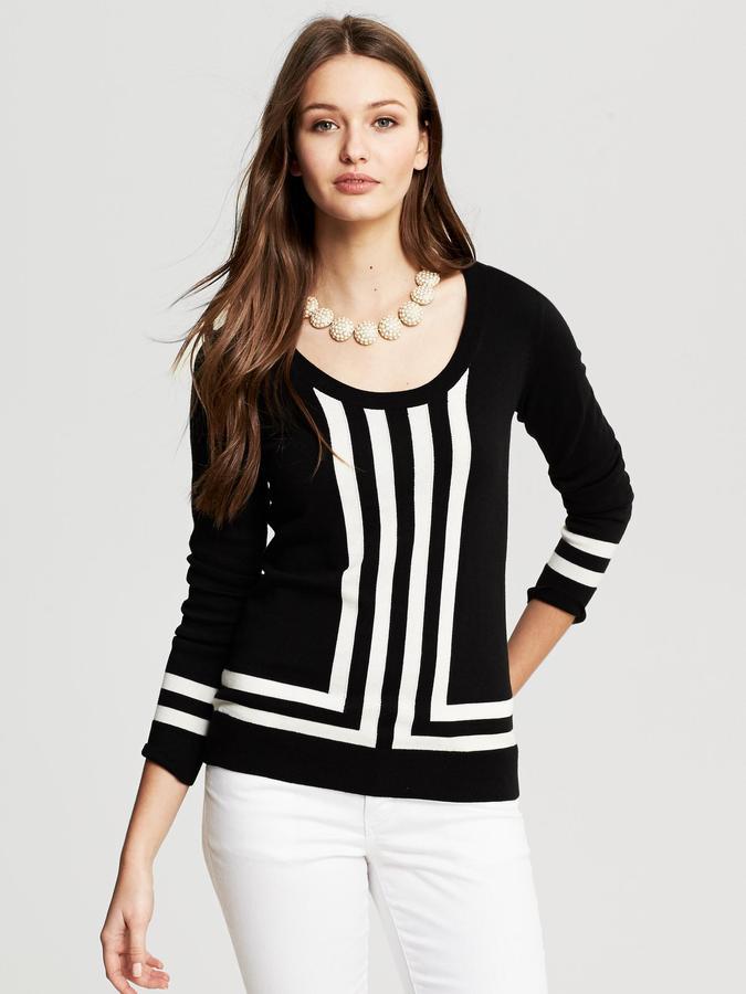 Banana Republic Mixed-Stripe Pullover