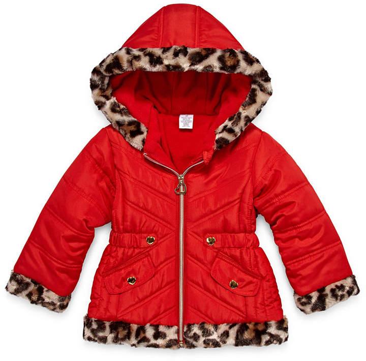 Okie Dokie Heavyweight Puffer Jacket - Girls-Toddler