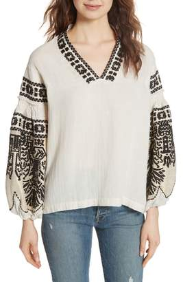 Mes Demoiselles Petra Embroidered Blouse