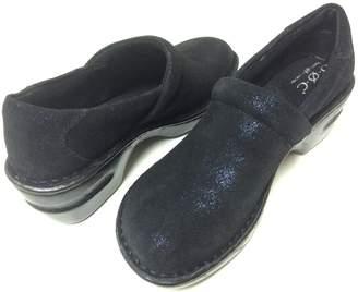 b.ø.c. Born Concept Margaret Twinkle Metallic Suede Clogs Women Size 6.5 M
