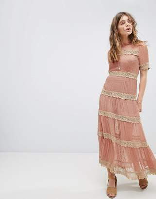 Rahi Cali Lace Panel Tea Dress