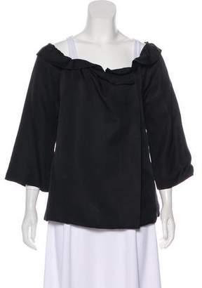 Loeffler Randall Ruffled Silk Jacket