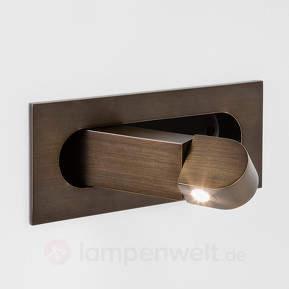Bronzene LED-Wandleuchte Digit mit Lesearm