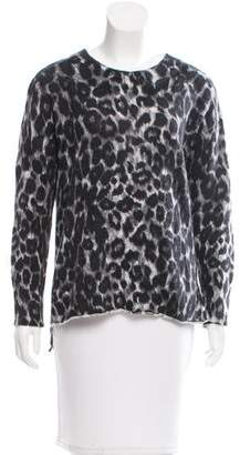 Rachel Zoe Long Sleeve Cheetah Print Sweater