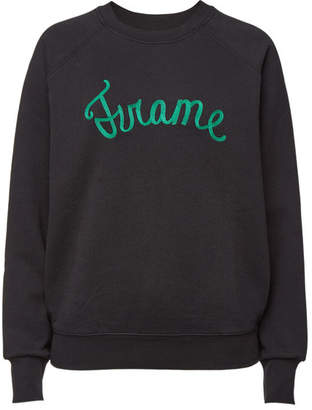 Frame Old School Cotton Sweatshirt with Embroidery