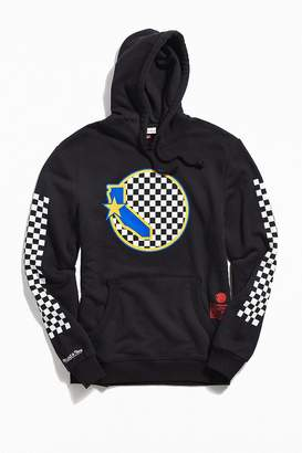 Mitchell & Ness Golden State Warriors Checkered Logo Hoodie Sweatshirt