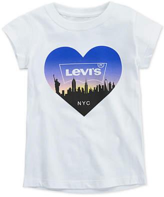 Levi's Toddler Girls Nyc Skyline Cotton T-Shirt