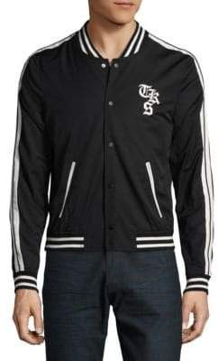 The Kooples Striped Varsity Jacket