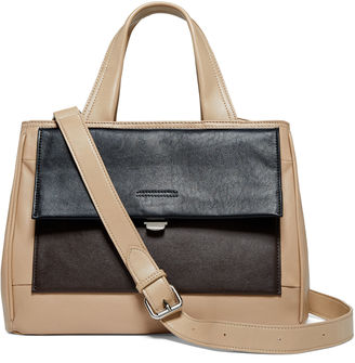 PERLINA Perlina Audrey Leather Colorblock Mini Tote $198 thestylecure.com