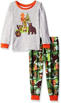 Komar Kids Toddler Boy's Size Camping Wildlife Jersey Pajama Set