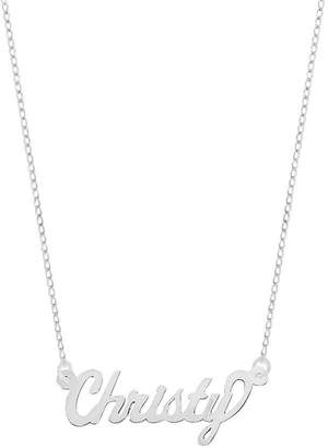 """Polished 18"""" Personalized Name Plate Necklace,14K"""