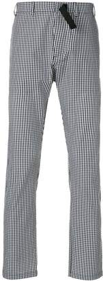 No.21 gingham straight-leg trousers