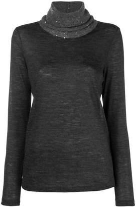 Fabiana Filippi sequined turtleneck sweater