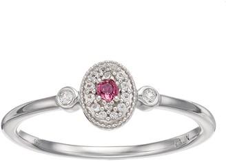 Lauren Conrad Sterling Silver Gemstone Oval Ring