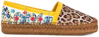 Dolce & Gabbana Majolica leopard print espadrilles