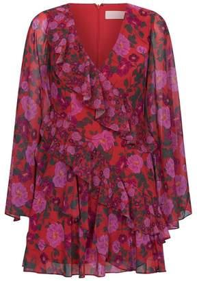 Keepsake The Label Waves Floral Ruffle Dress
