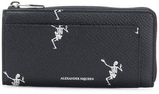 Alexander McQueen Dancing Skeleton continental wallet